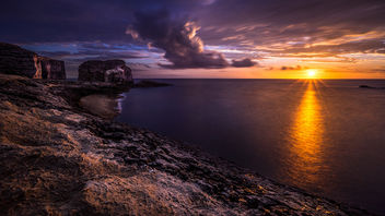 Fungus rock at sunset - Gozo, Malta - Landscape photography - бесплатный image #303205