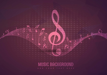 Music background design - vector gratuit #303375