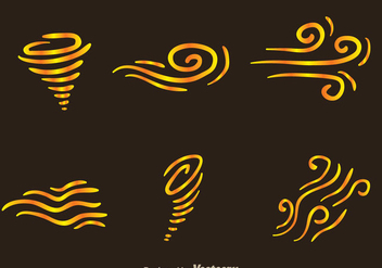 Wind Icons - vector #303385 gratis