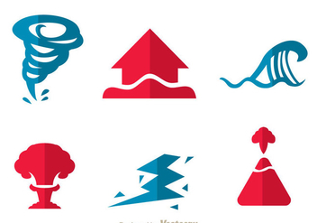 Natural Disaster Icons - Free vector #303395