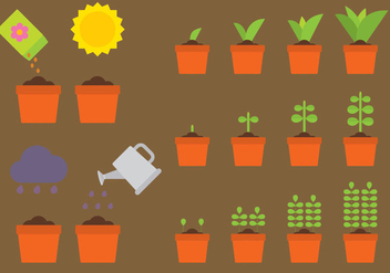 Vector Plants Growing - бесплатный vector #303415