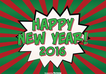 Comic Style New Year Background Illustration - Free vector #303425