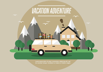 Free Web Travel Vector Background With Beautiful Landscape - Free vector #303455