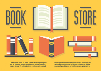Free Set of Books in Flat Design Vector Illustration - бесплатный vector #303465