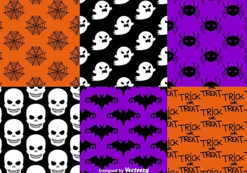Halloween seamless patterns - Free vector #303475