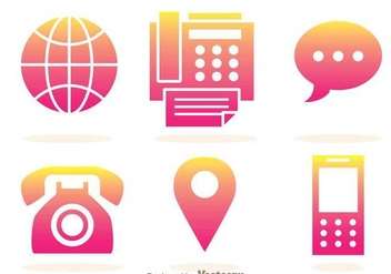 Phone Gradation Icons - vector gratuit #303515