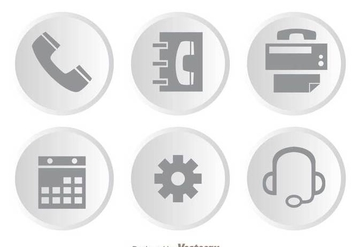 Costumer Service Gray Icons - бесплатный vector #303525