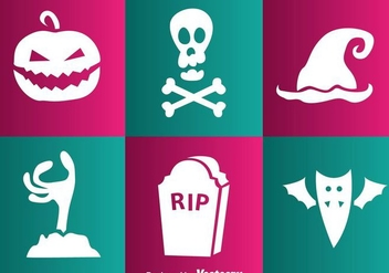 Vector Halloween White Icons - vector gratuit #303565
