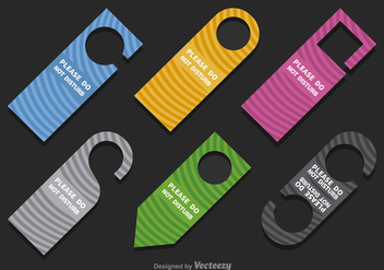 Do not disturb hangers - Free vector #303585