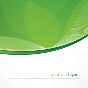 Abstract Green Curves Cover - vector #303715 gratis