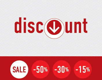 Sale Discount Signs Template - vector gratuit #303725
