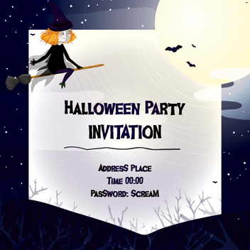 Halloween Night Party Invitation - vector gratuit #303735