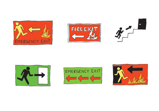 Free Emergency Exit Sign Vector Series - Free vector #303855