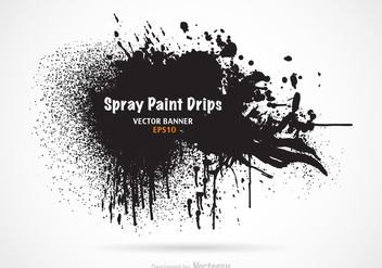 Free Spray Paint Drips Vector Banner - бесплатный vector #303875