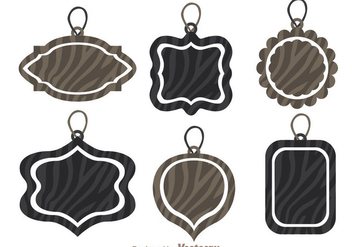 Label Tag With Zebra Print Vectors - vector gratuit #303905