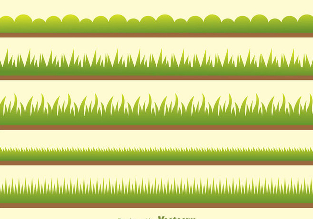Vector Green Grass On Field - Free vector #303915