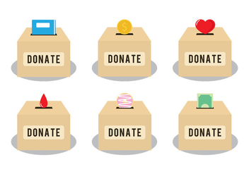 Donate Box Vectors - Free vector #304165