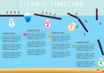 Vector Titanic Timeline - Free vector #304185