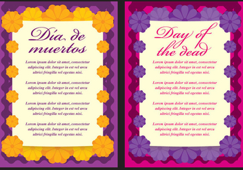 Day Of The Dead Cards - vector gratuit #304195