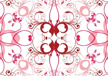 Pink vector floral background - vector #304265 gratis