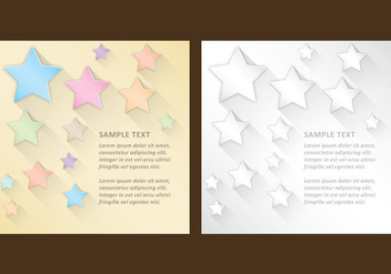 Stars With Shadows Templates - Free vector #304285