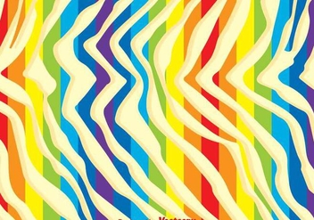 Rainbow Zebra Print Background - vector #304295 gratis