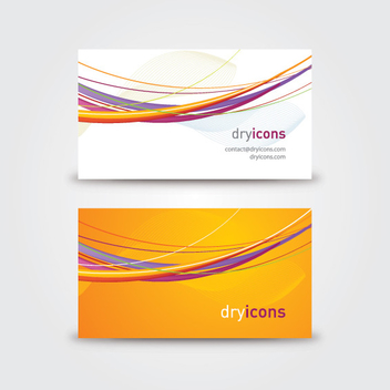 Colorful Lines Business Card - vector #304315 gratis