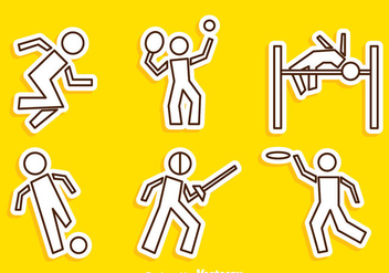 Sport Line Vector Icons - Free vector #304375