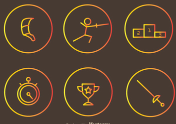 Fencing Vector Icons - бесплатный vector #304385