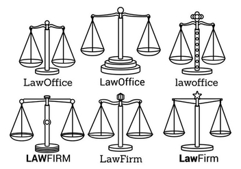 Law Office Logo Vectors - vector gratuit #304405