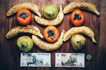 Bananas, pears and russian rubels - image #304615 gratis