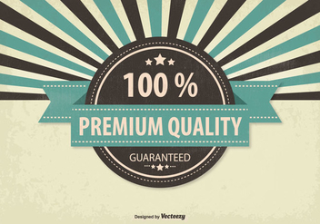 Retro Promotional Premium Quality Illustration - vector gratuit #304885