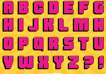 Comic Style Alphabet Set - vector #304925 gratis