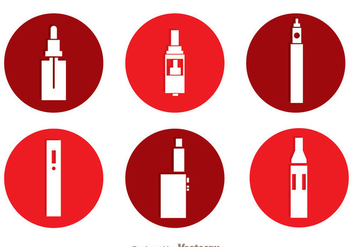 Vape Circle Icons - Free vector #304975