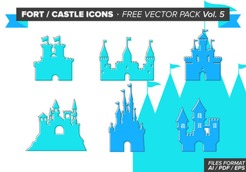 Fort Castle Icons Free Vector Pack Vol. 5 - Free vector #305045