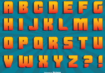 Comic Style Alphabet Set - vector #305055 gratis