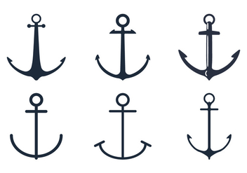 Anchor Icon Set - vector gratuit #305075