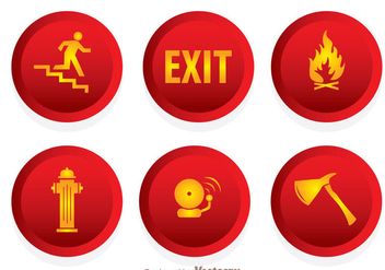 Fire Emergency Icons - vector gratuit #305095