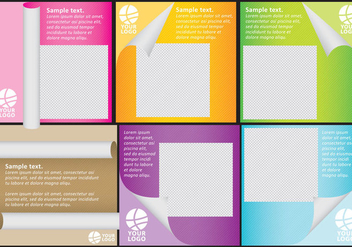 Scrolled Paper Templates With Photo - vector gratuit #305185