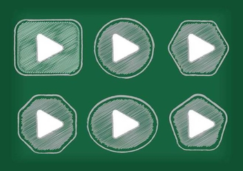 Play Button Icon Vectors - vector #305195 gratis