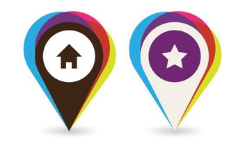 Colorful Mapping Location Pointers - vector gratuit #305265