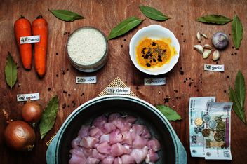 Ingredients for pilaf with chicken - image gratuit #305395