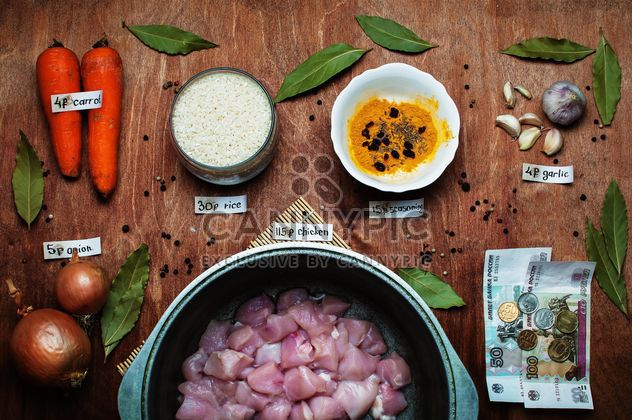 Ingredients for pilaf with chicken - Free image #305395