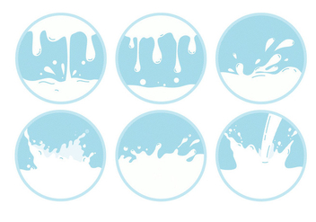 Milk Wave Vectors - vector gratuit #305425