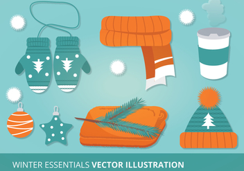 Winter Accessories Vector Illustration - Kostenloses vector #305455