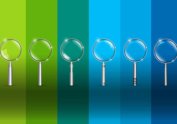 Magnifying glass vectors - vector gratuit #305585