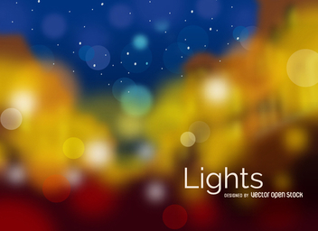 Blurred city lights - Kostenloses vector #305665
