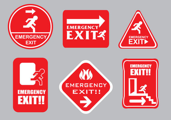Emergency Escape Sign Vectors - vector gratuit #305805