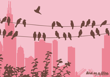 Vector Birds on a Wire - vector gratuit #305815