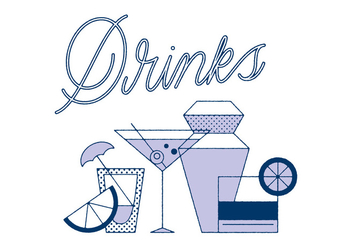 Free Drinks Vector - vector gratuit #305875